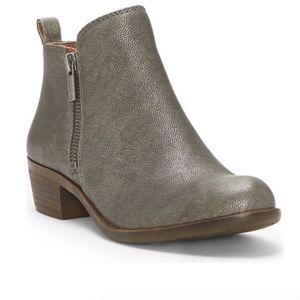 Lucky Brand Basel Booties Pewter EUC